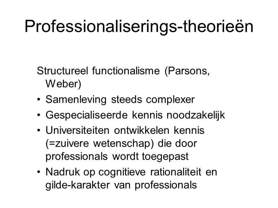 Professionaliserings-theorieën