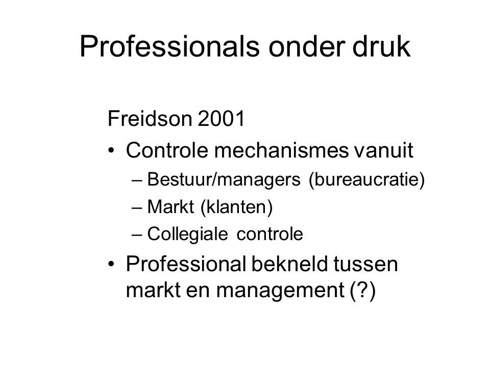 Professionals onder druk