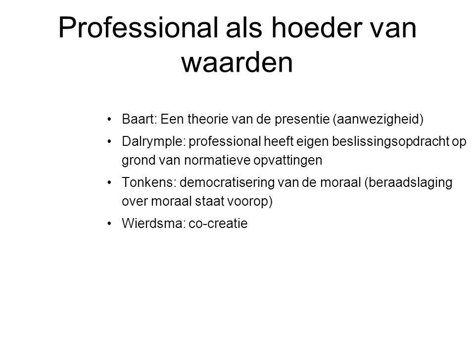 Professional als hoeder van waarden