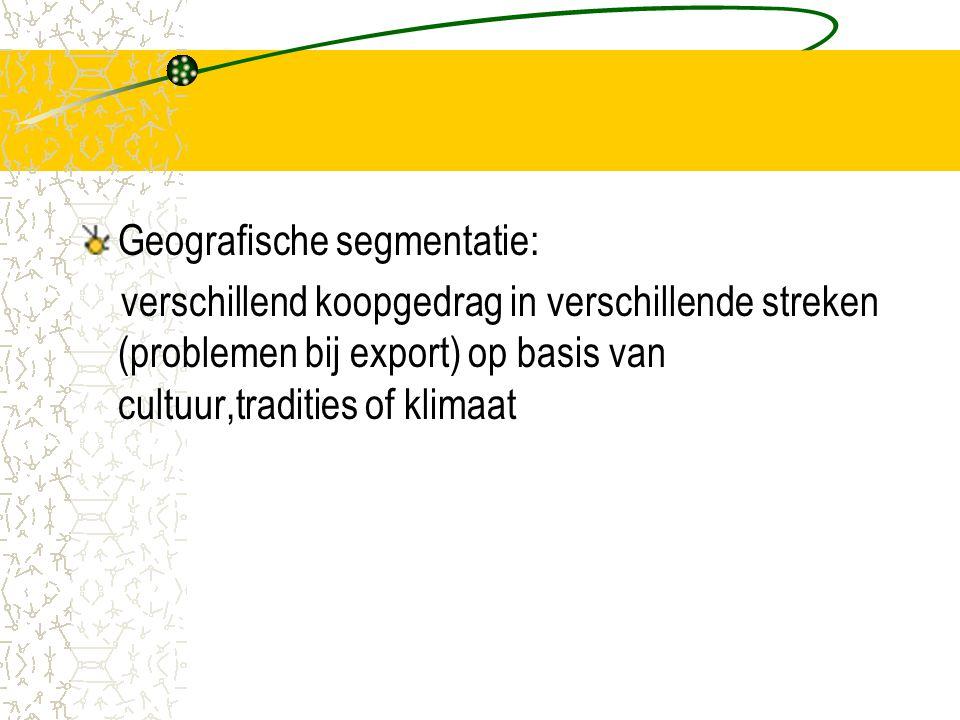 Geografische segmentatie: