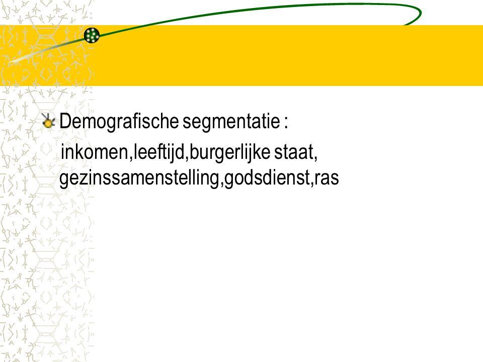 Demografische segmentatie :