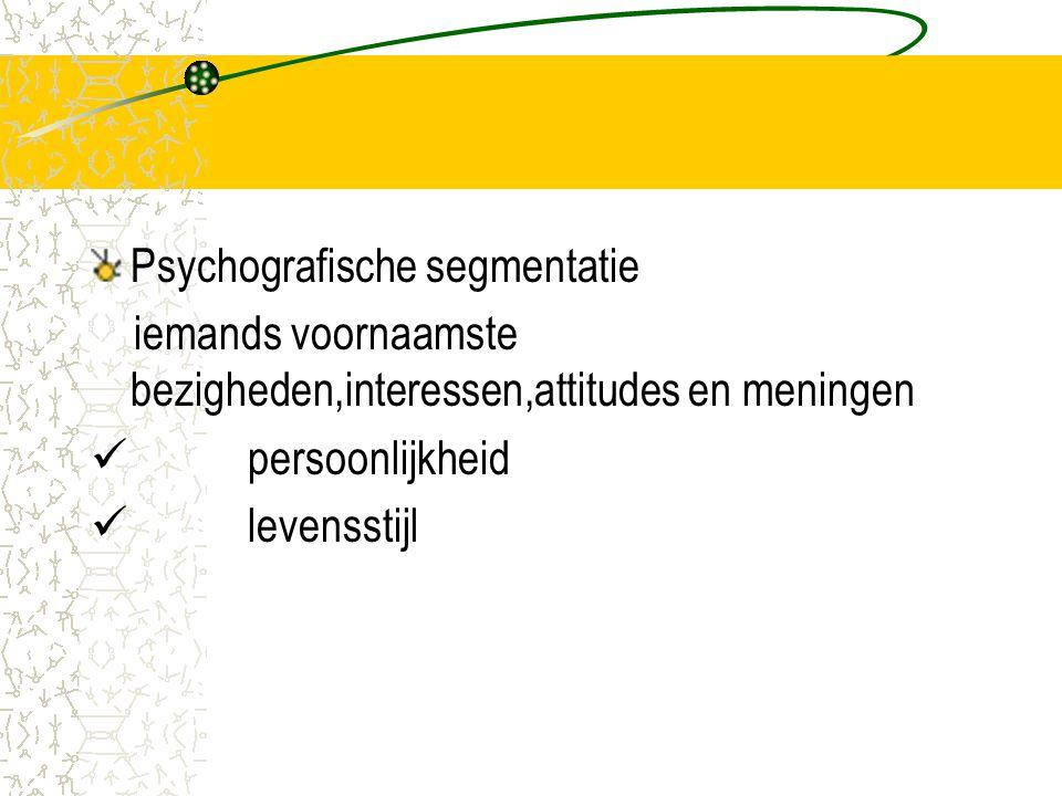 Psychografische segmentatie