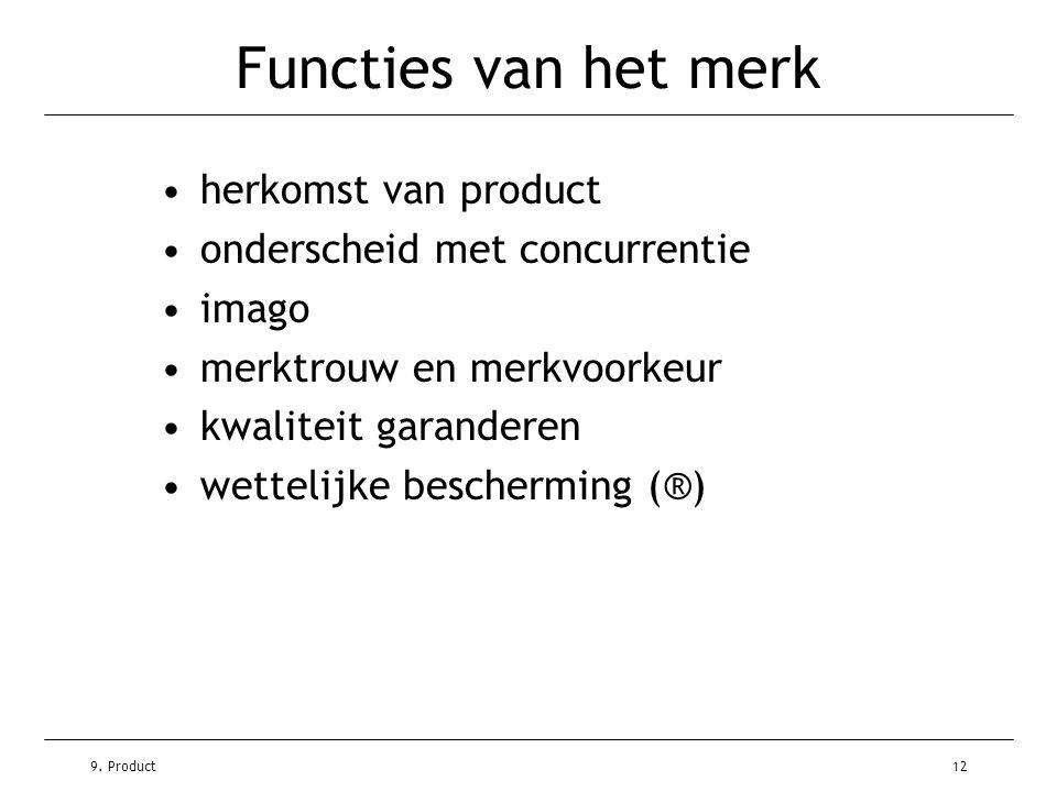 Functies van het merk herkomst van product