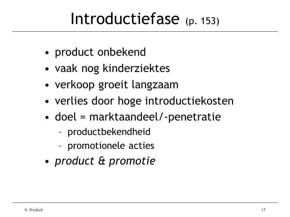 Introductiefase (p. 153) product onbekend vaak nog kinderziektes
