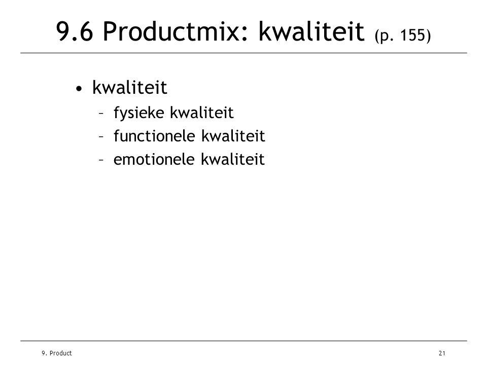 9.6 Productmix: kwaliteit (p. 155)