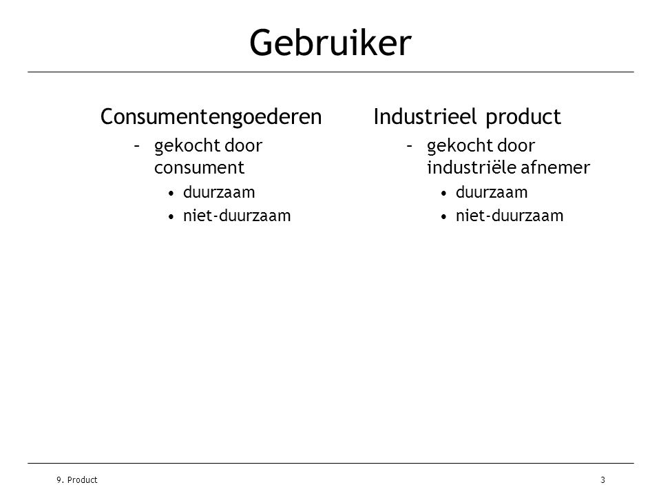 Gebruiker Consumentengoederen Industrieel product
