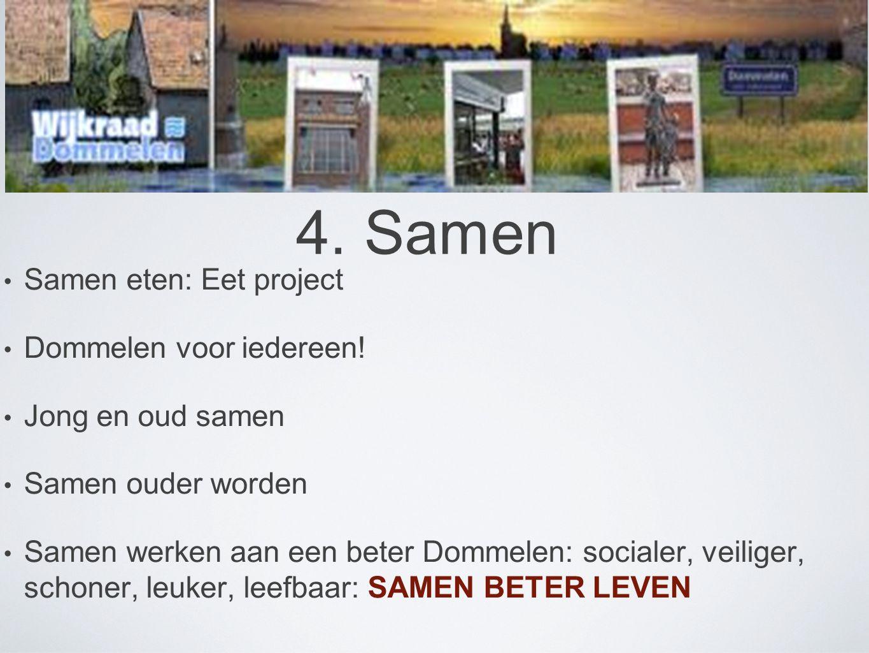 4. Samen Samen eten: Eet project Dommelen voor iedereen!