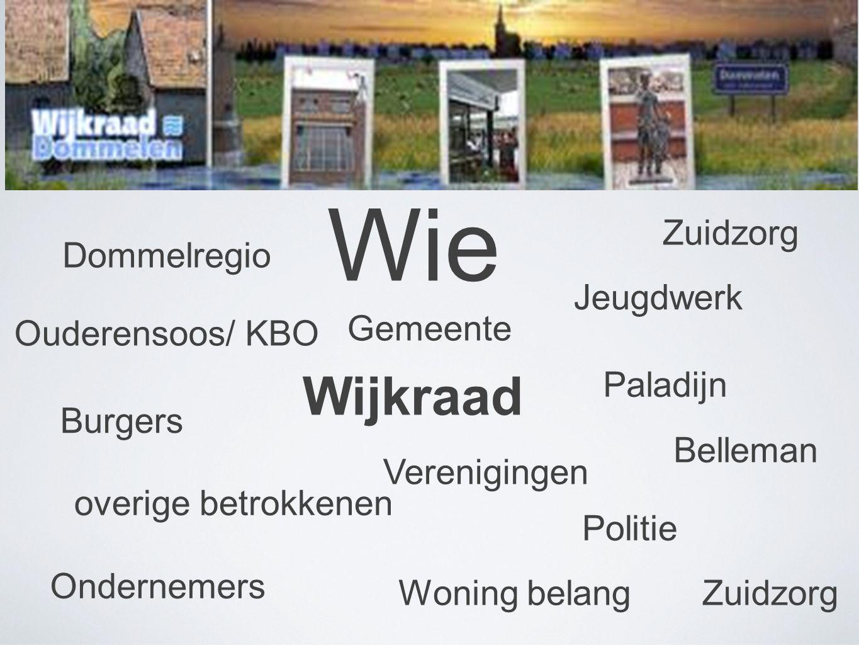 Wie Wijkraad Zuidzorg Dommelregio Jeugdwerk Gemeente Ouderensoos/ KBO