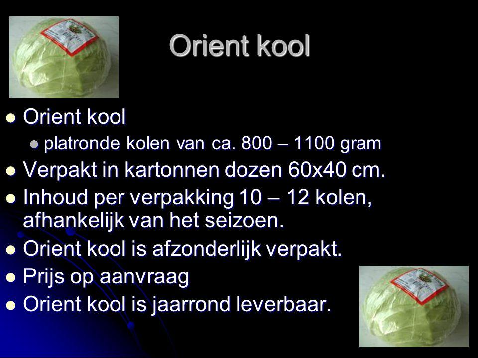 Orient kool Orient kool Verpakt in kartonnen dozen 60x40 cm.