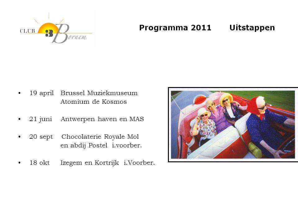 Programma 2011 Uitstappen 19 april Brussel Muziekmuseum