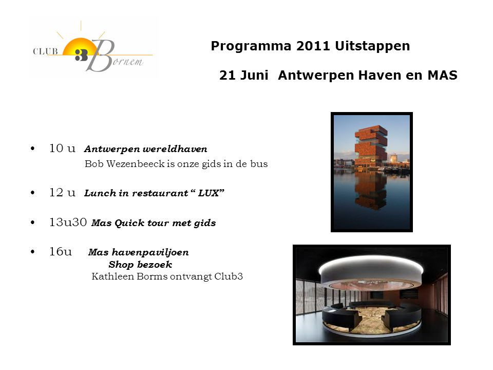 21 Juni Antwerpen Haven en MAS