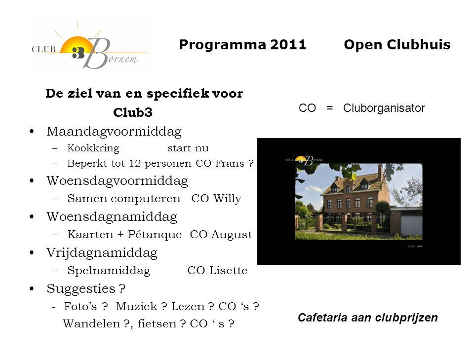 Programma 2011 Open Clubhuis
