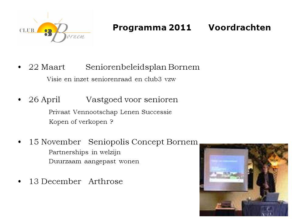 Programma 2011 Voordrachten