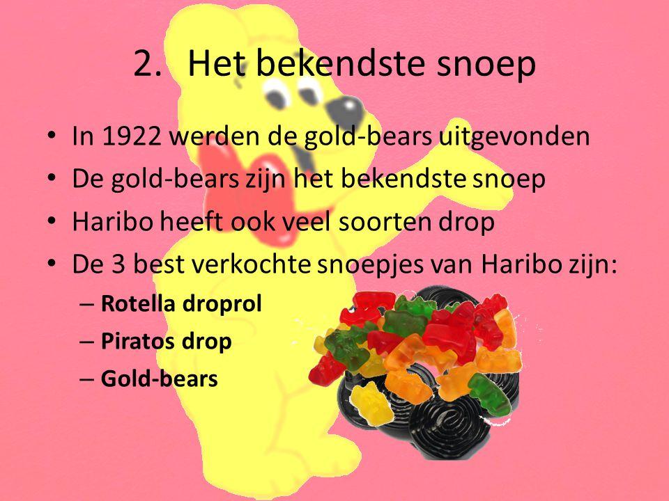 Het bekendste snoep In 1922 werden de gold-bears uitgevonden