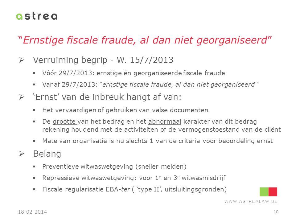 Ernstige fiscale fraude, al dan niet georganiseerd