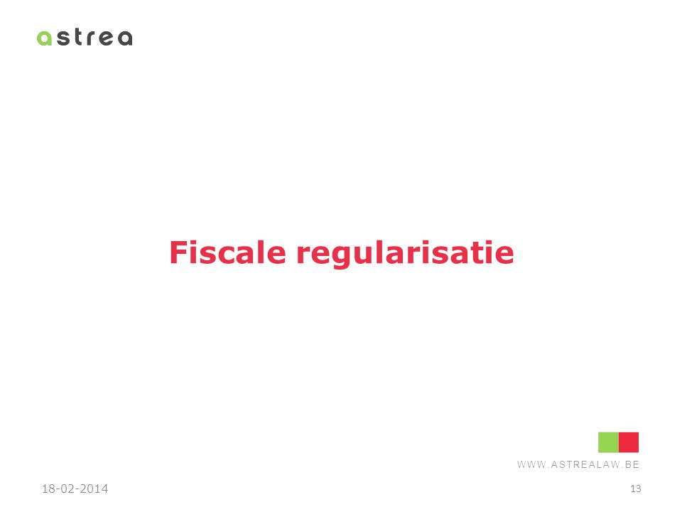 Fiscale regularisatie