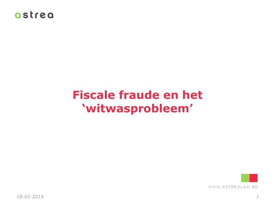 Fiscale fraude en het 'witwasprobleem'