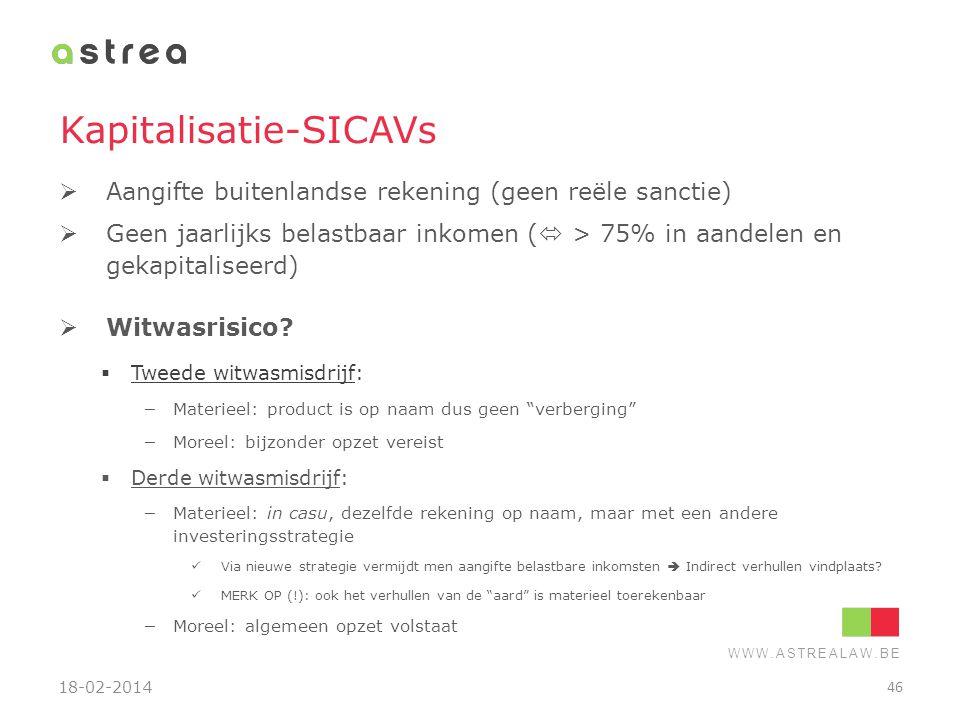 Kapitalisatie-SICAVs