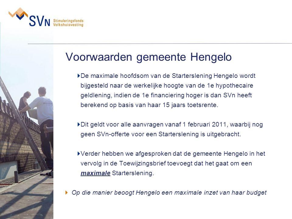 Voorwaarden gemeente Hengelo