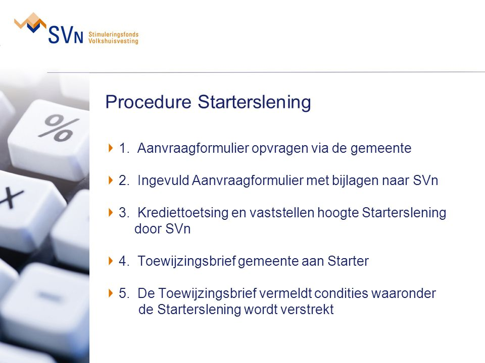 Procedure Starterslening