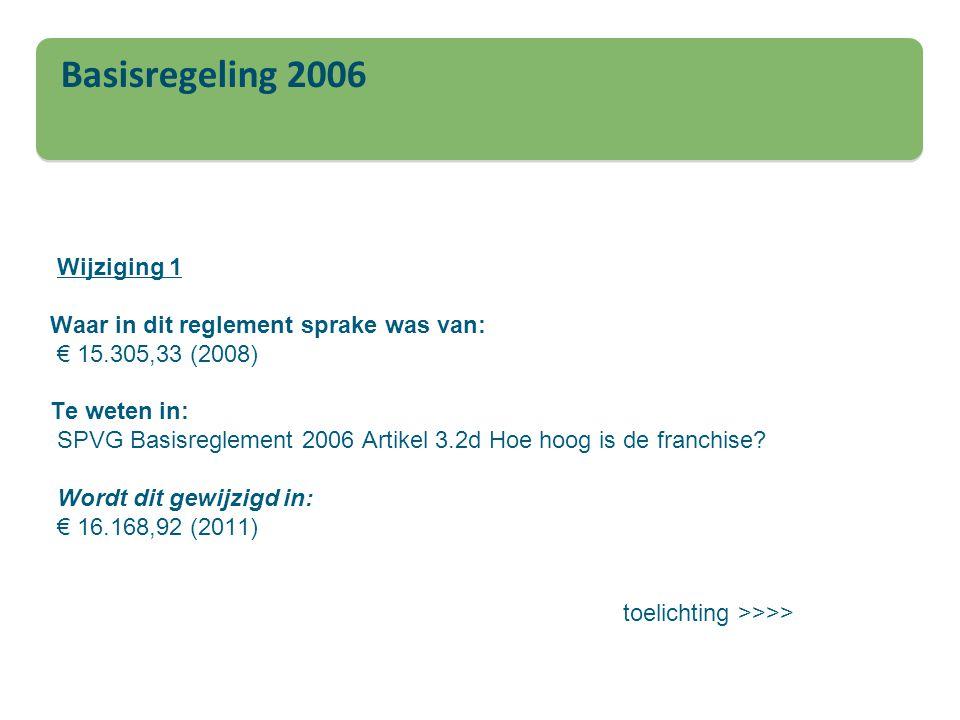 Basisregeling 2006