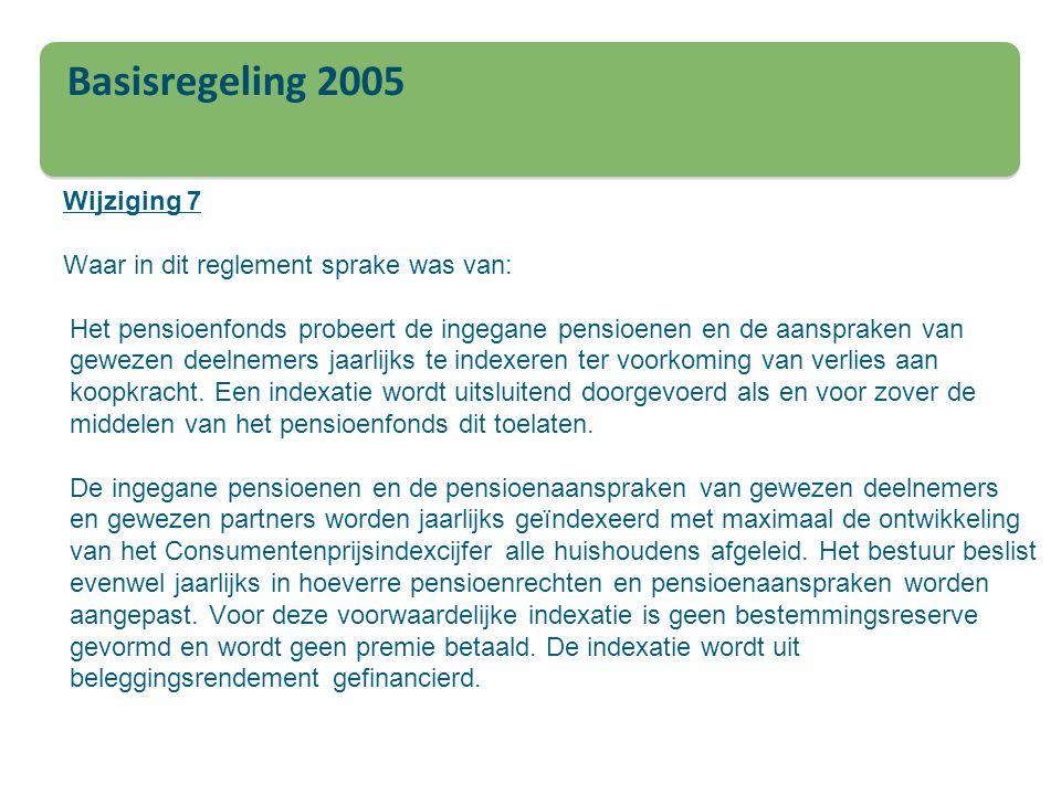 Basisregeling 2005