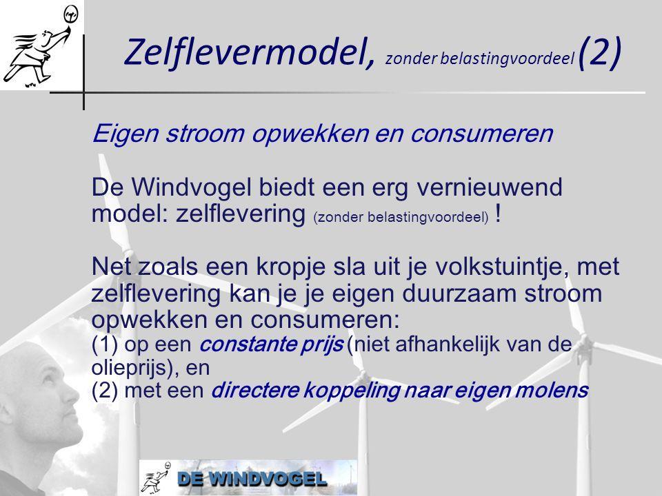 Zelflevermodel, zonder belastingvoordeel (2)