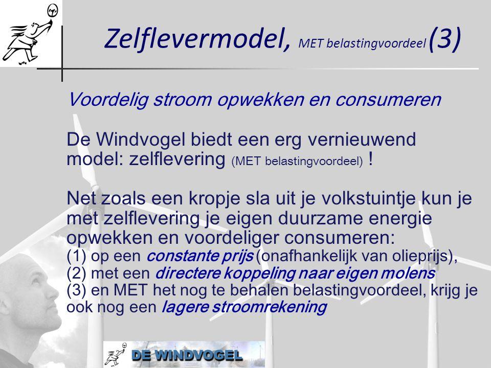 Zelflevermodel, MET belastingvoordeel (3)