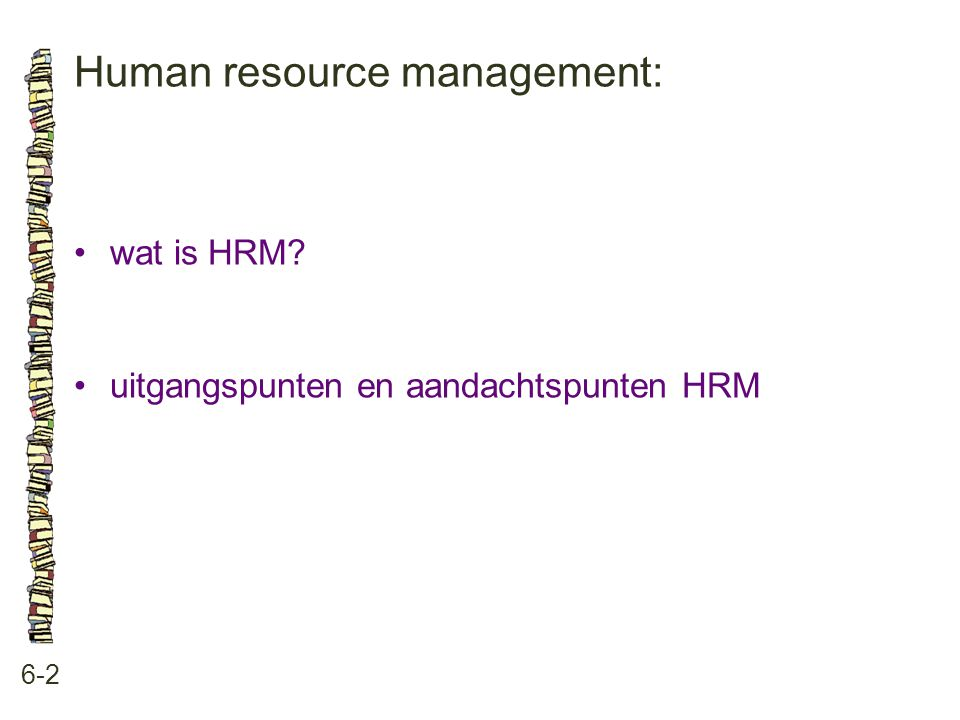 Human resource management: