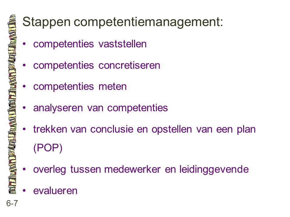 Stappen competentiemanagement: