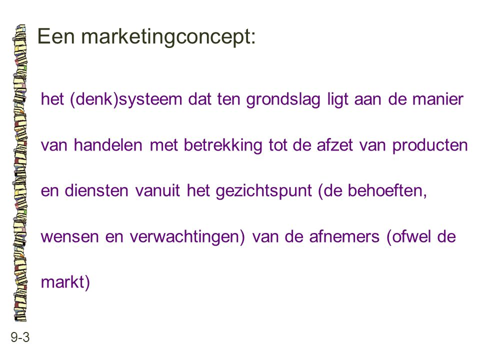 Een marketingconcept: