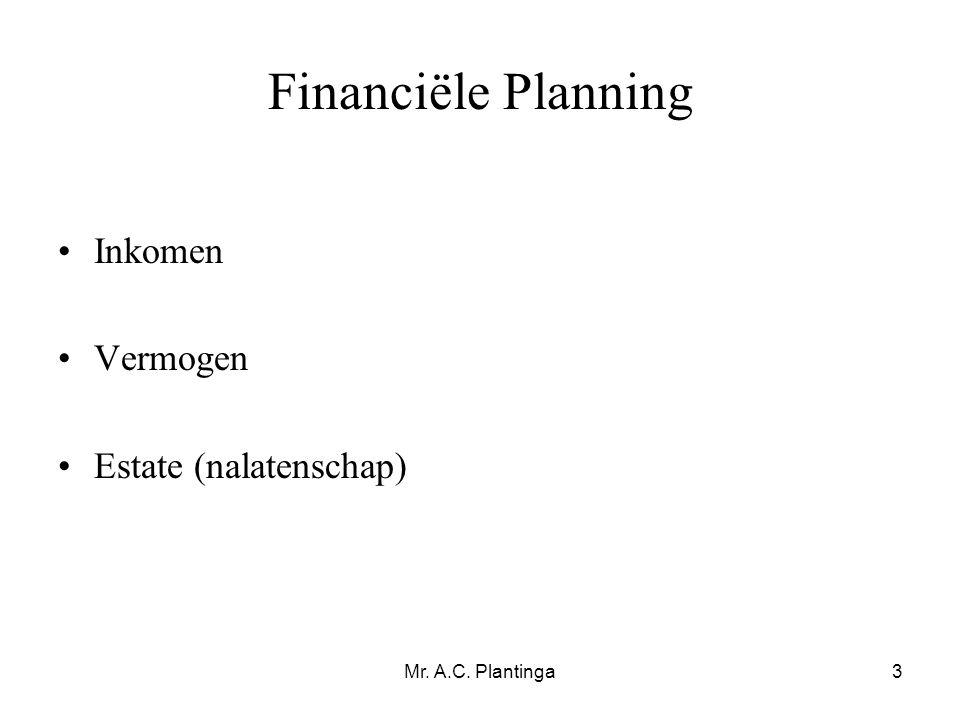 Financiële Planning Inkomen Vermogen Estate (nalatenschap)