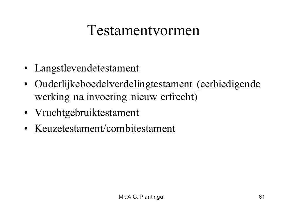Testamentvormen Langstlevendetestament