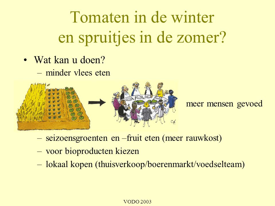 Tomaten in de winter en spruitjes in de zomer