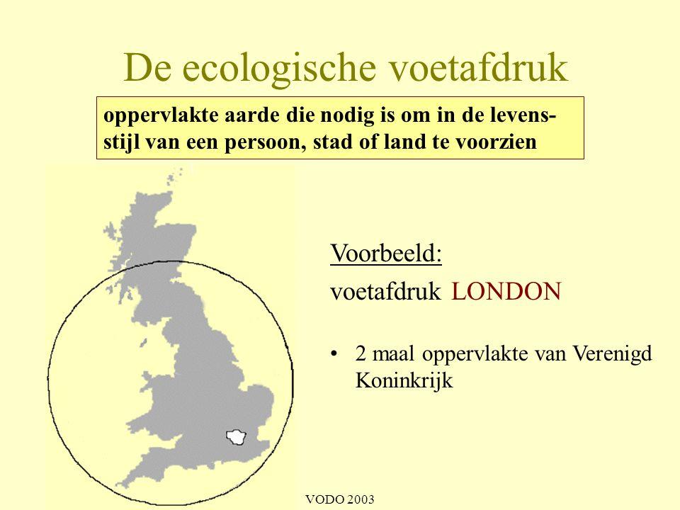 De ecologische voetafdruk