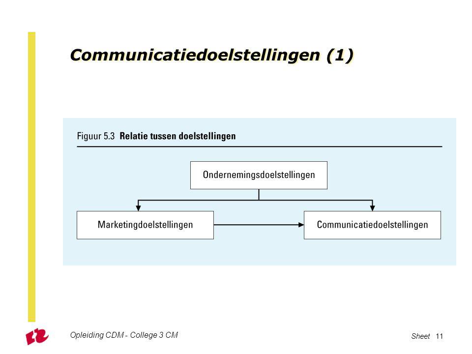 Communicatiedoelstellingen (1)