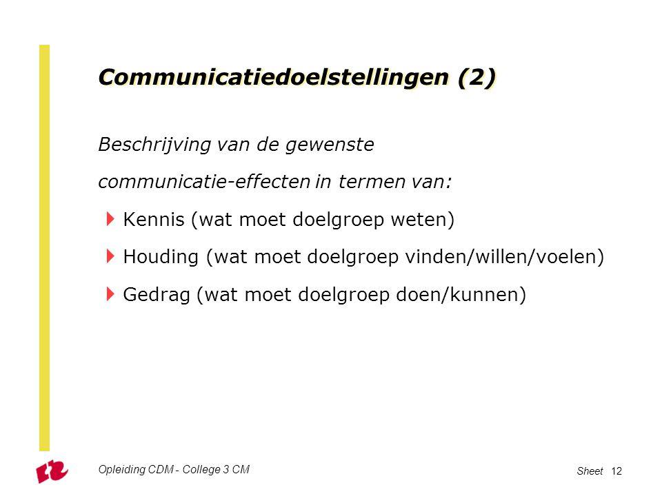 Communicatiedoelstellingen (2)