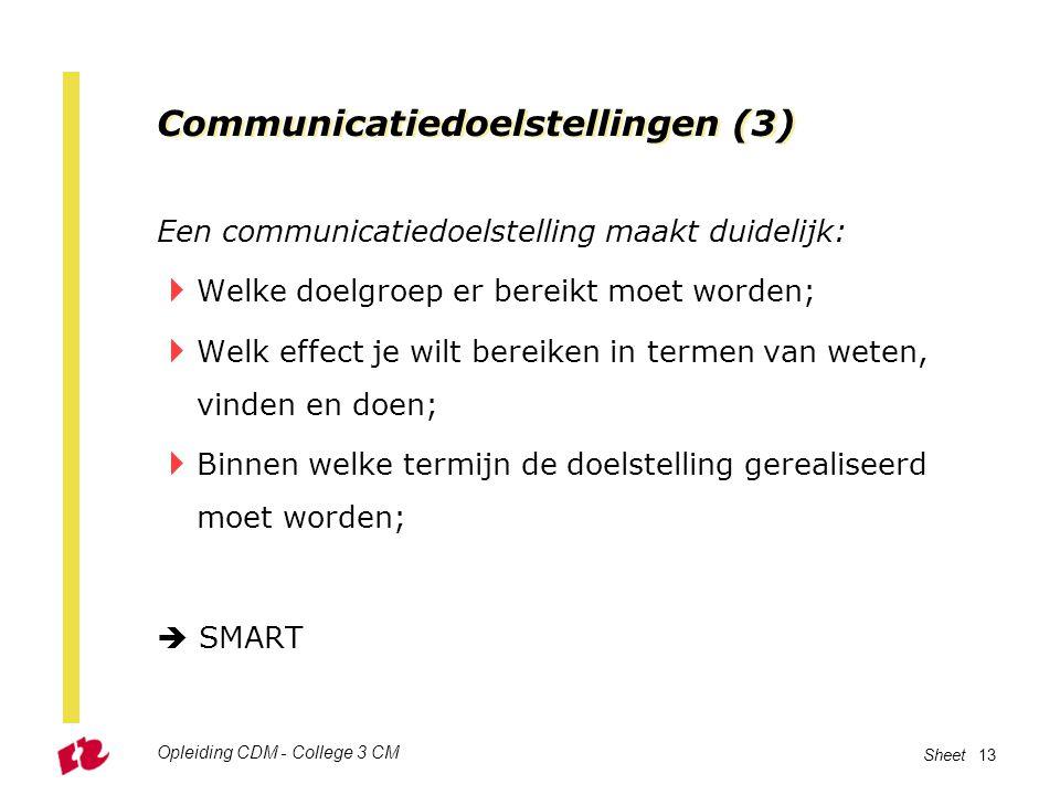 Communicatiedoelstellingen (3)