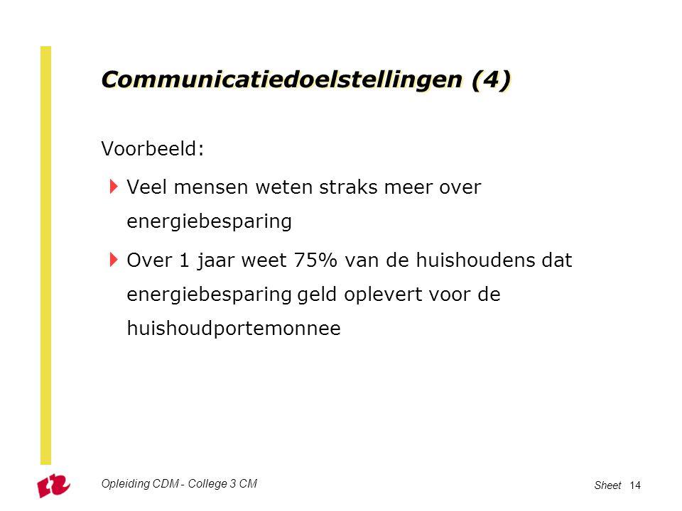 Communicatiedoelstellingen (4)