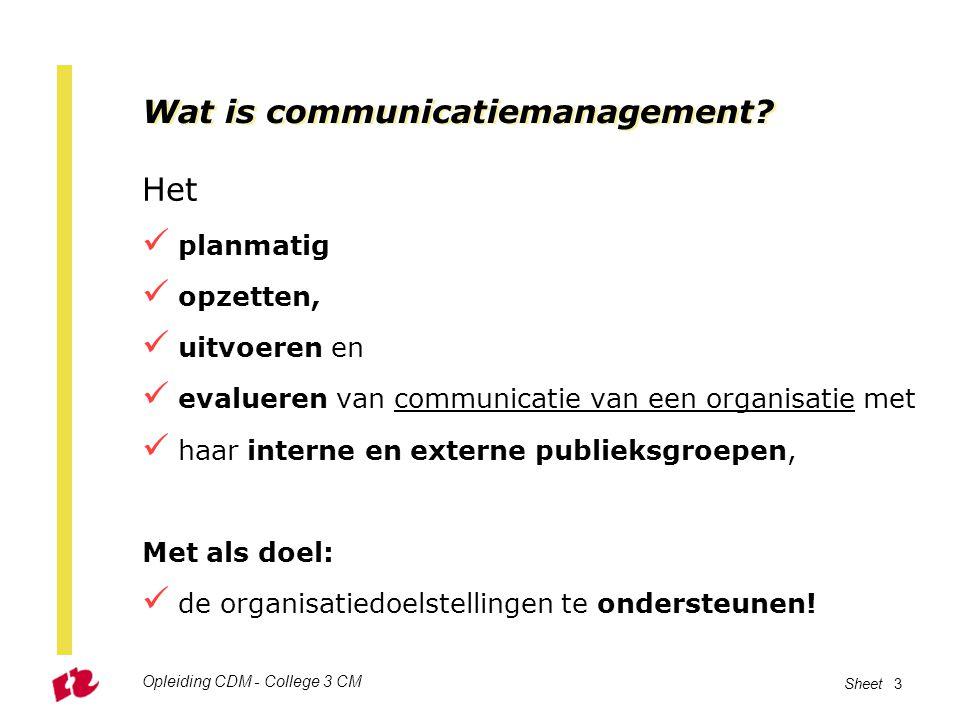 Wat is communicatiemanagement