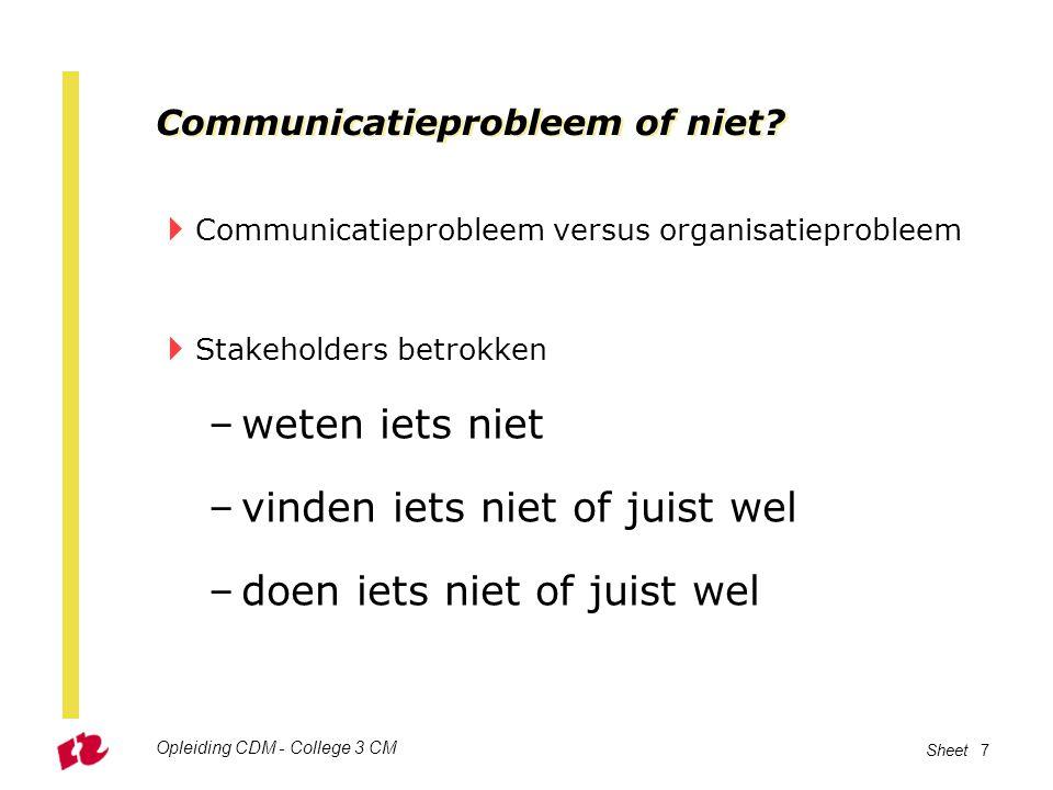 Communicatieprobleem of niet