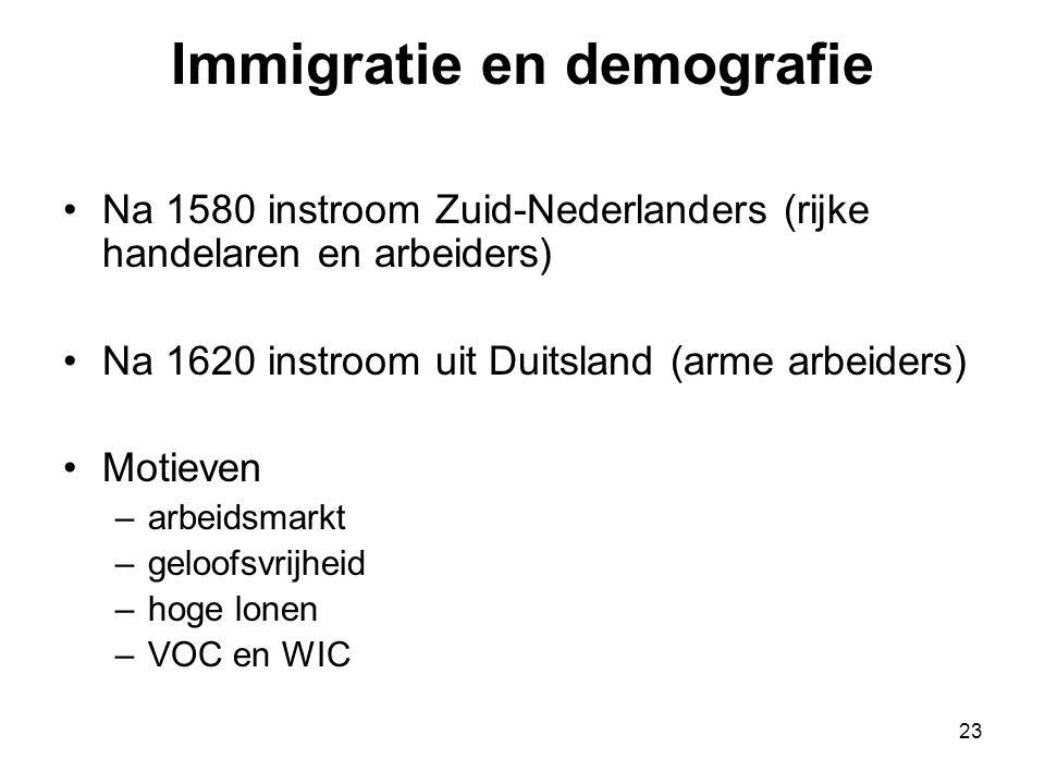 Immigratie en demografie