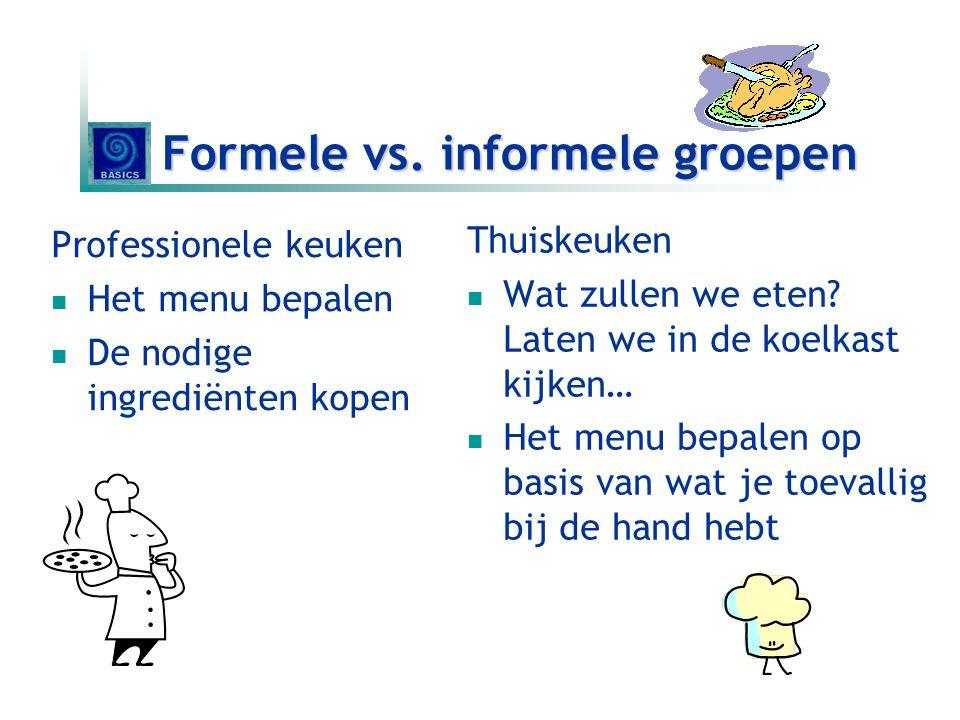 Formele vs. informele groepen