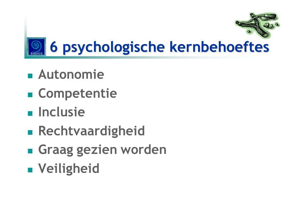 6 psychologische kernbehoeftes