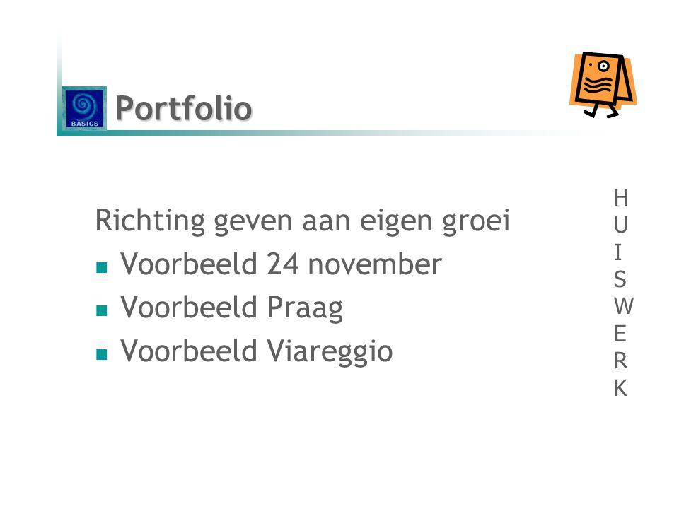 Portfolio Richting geven aan eigen groei Voorbeeld 24 november