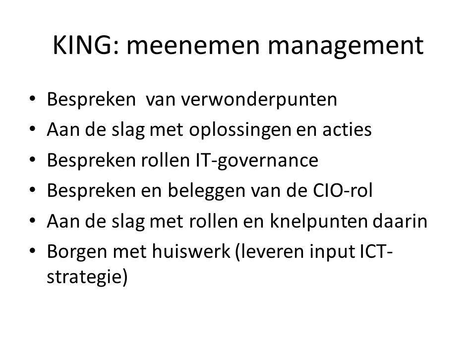 KING: meenemen management
