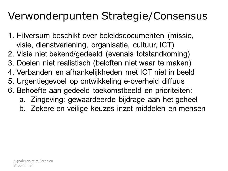 Verwonderpunten Strategie/Consensus