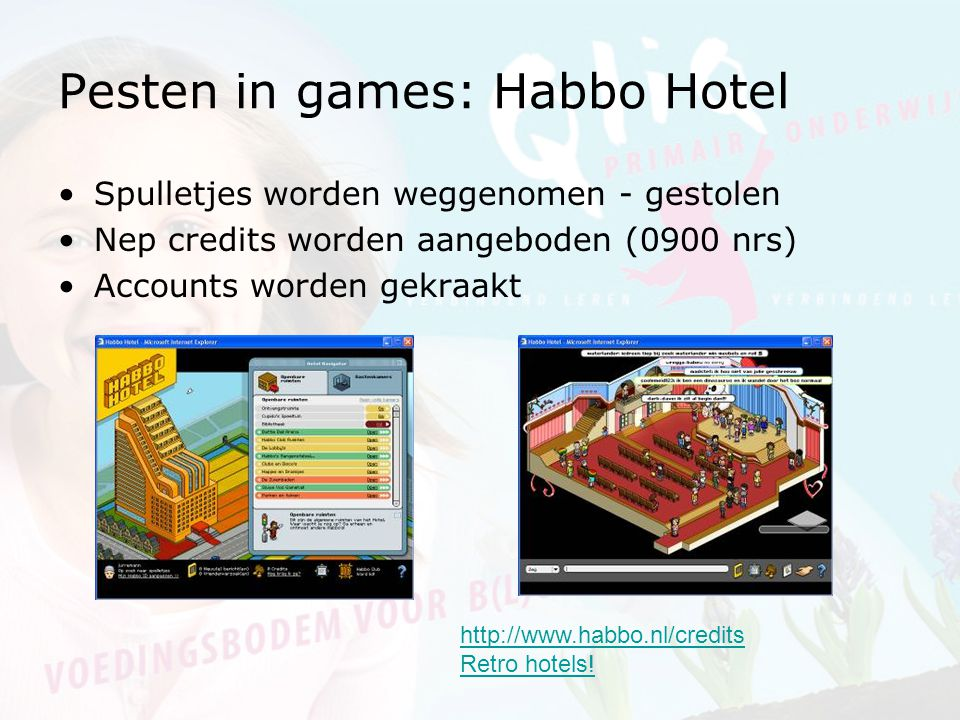 Pesten in games: Habbo Hotel