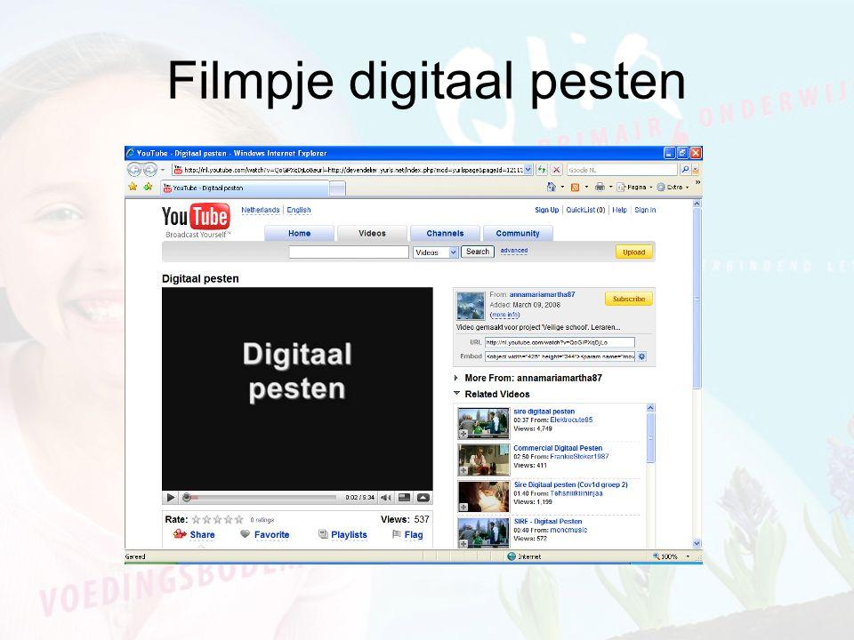 Filmpje digitaal pesten