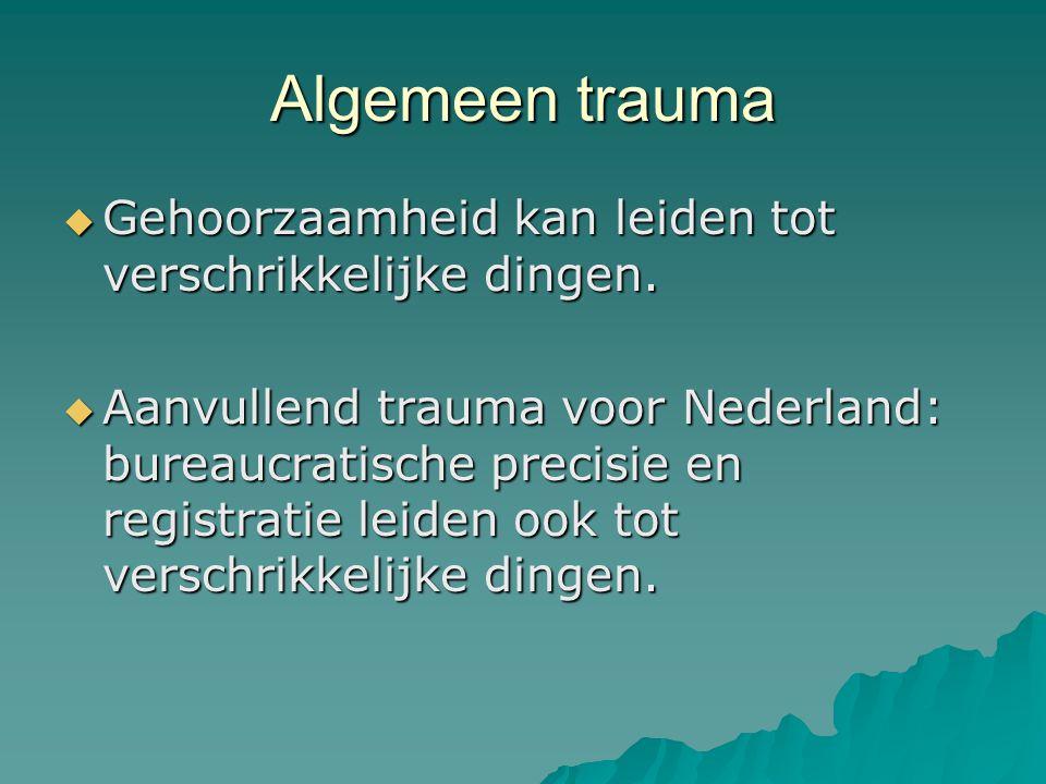 Algemeen trauma Gehoorzaamheid kan leiden tot verschrikkelijke dingen.